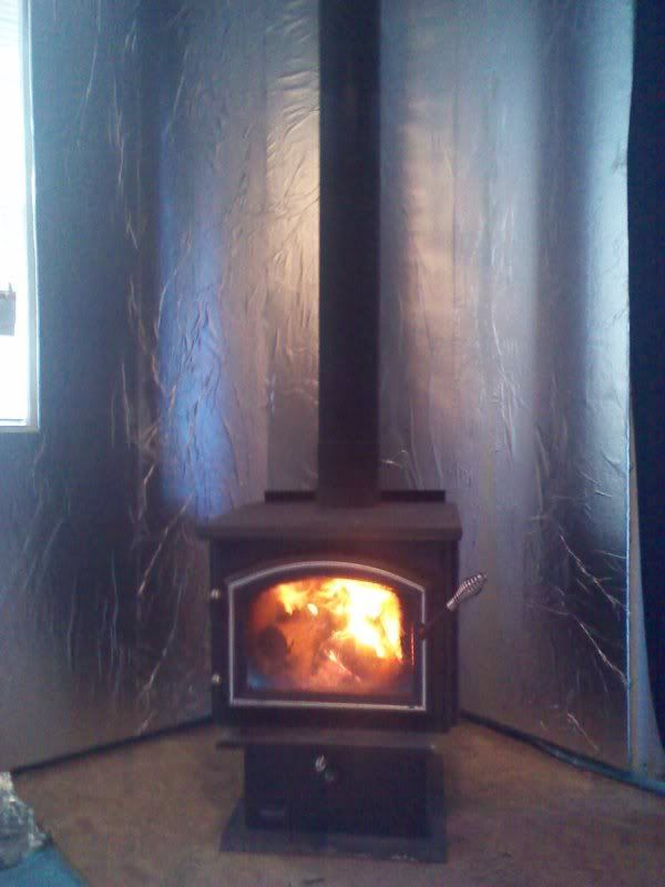 wood stove backing - Google Search | home projects | Pinterest ...