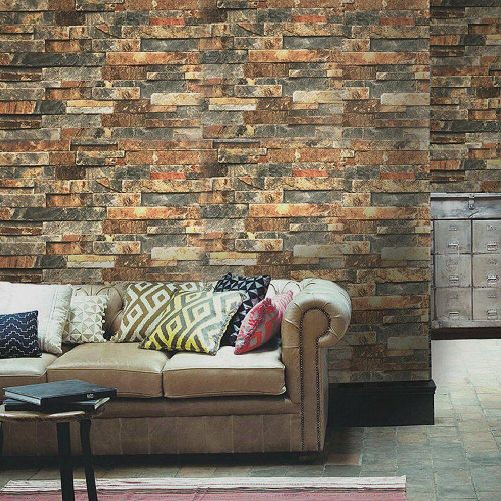 3D Peel and Stick Faux Brick Wallpaper Faux brick