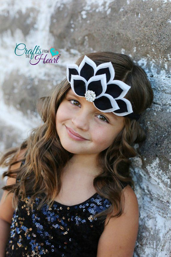 Felt Crown Headband - Flower Crown - Felt Tiara - Floral Crown - Felt Halo - Felt Headband - Flower Crown Headband - Boho - White Grey Black #feltcrown