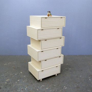 Stacked Drawers Dresser By John Eric Byers Manufactured By Jeb Jones,  $5,225, Now Featured