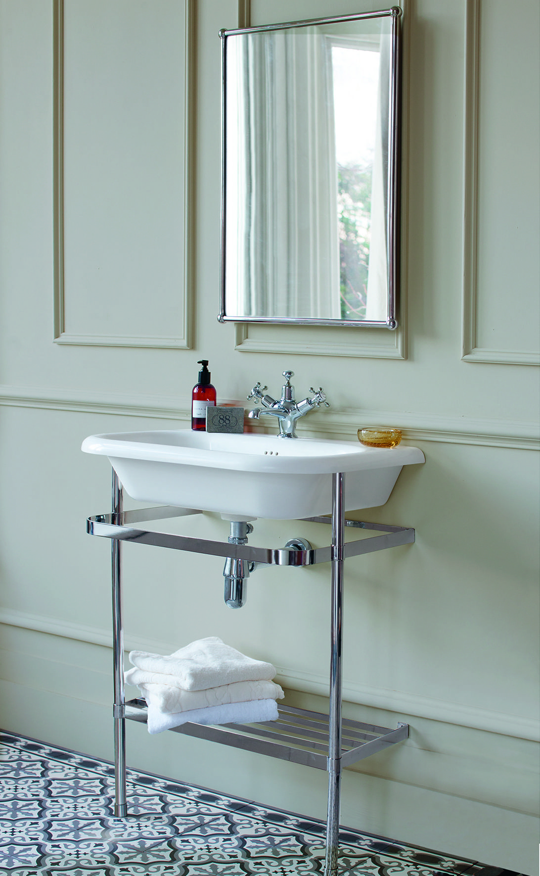 Create a vintage inspired bathroom - Natural Stone Basin & Washstand ...