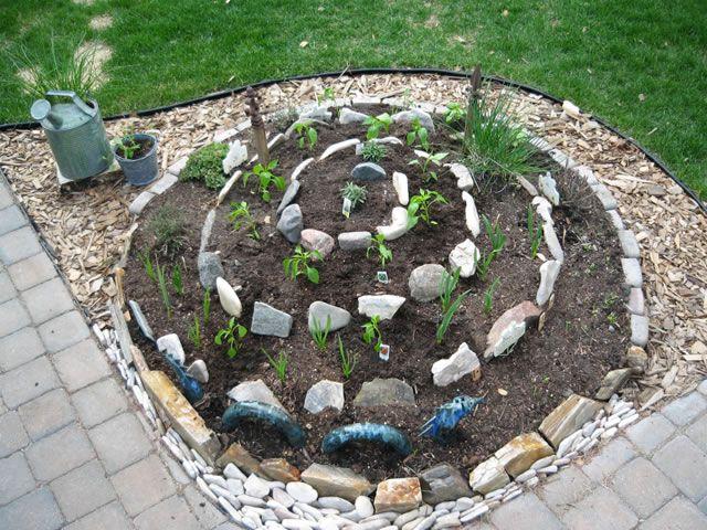 Jardín espiral DIY 7