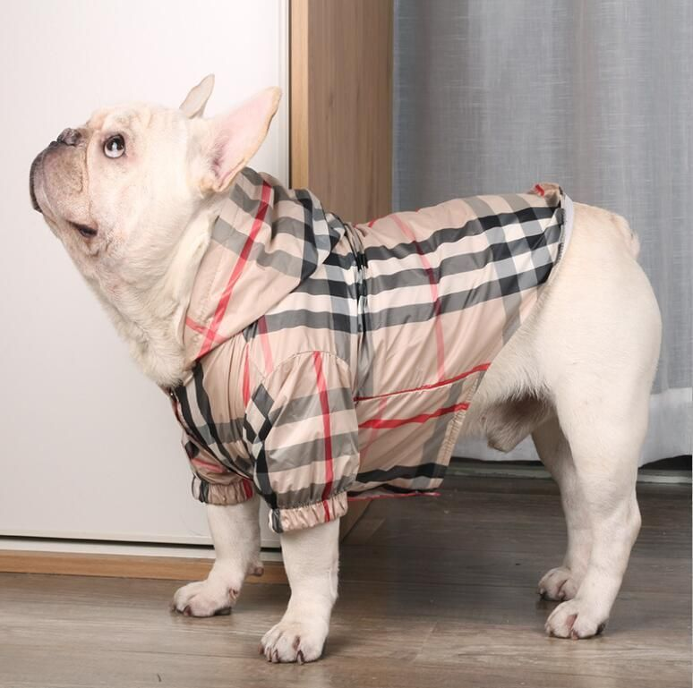 Furberry Drippy Rain Coat Hoodie Drippy Pet Shop Dog Plaid French Bulldog French Bulldog Hoodie