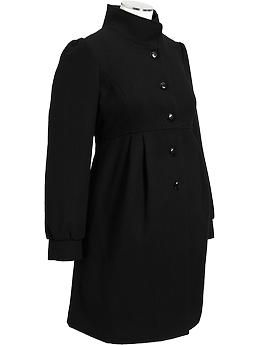 592b3530cbbdc Maternity Button-Front Wool-Blend Coats | Old Navy $79.94 ...