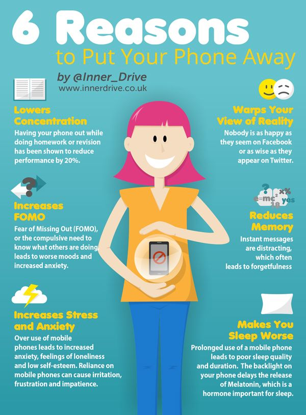 6 reasons to put your phone away infograph it pinterest 6 reasons to put your phone away fandeluxe Choice Image