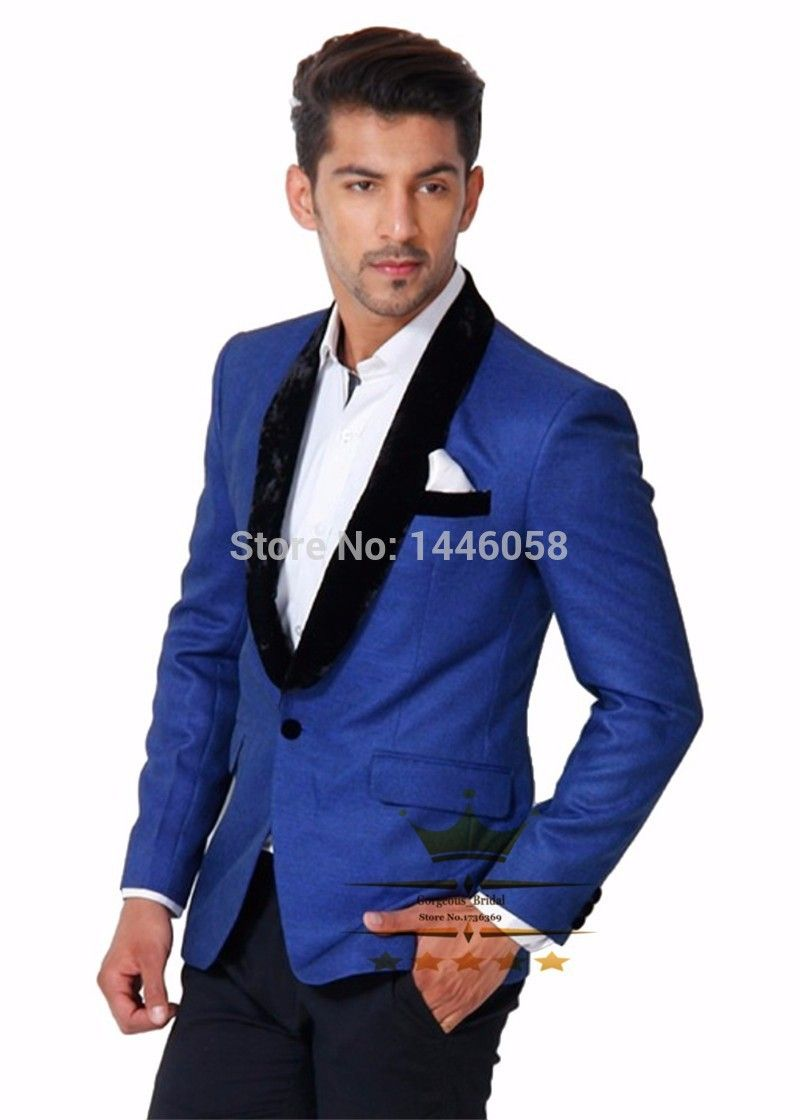 Click to enlarge Popular Royal Blue and Black Prom Suit-Buy Cheap ...