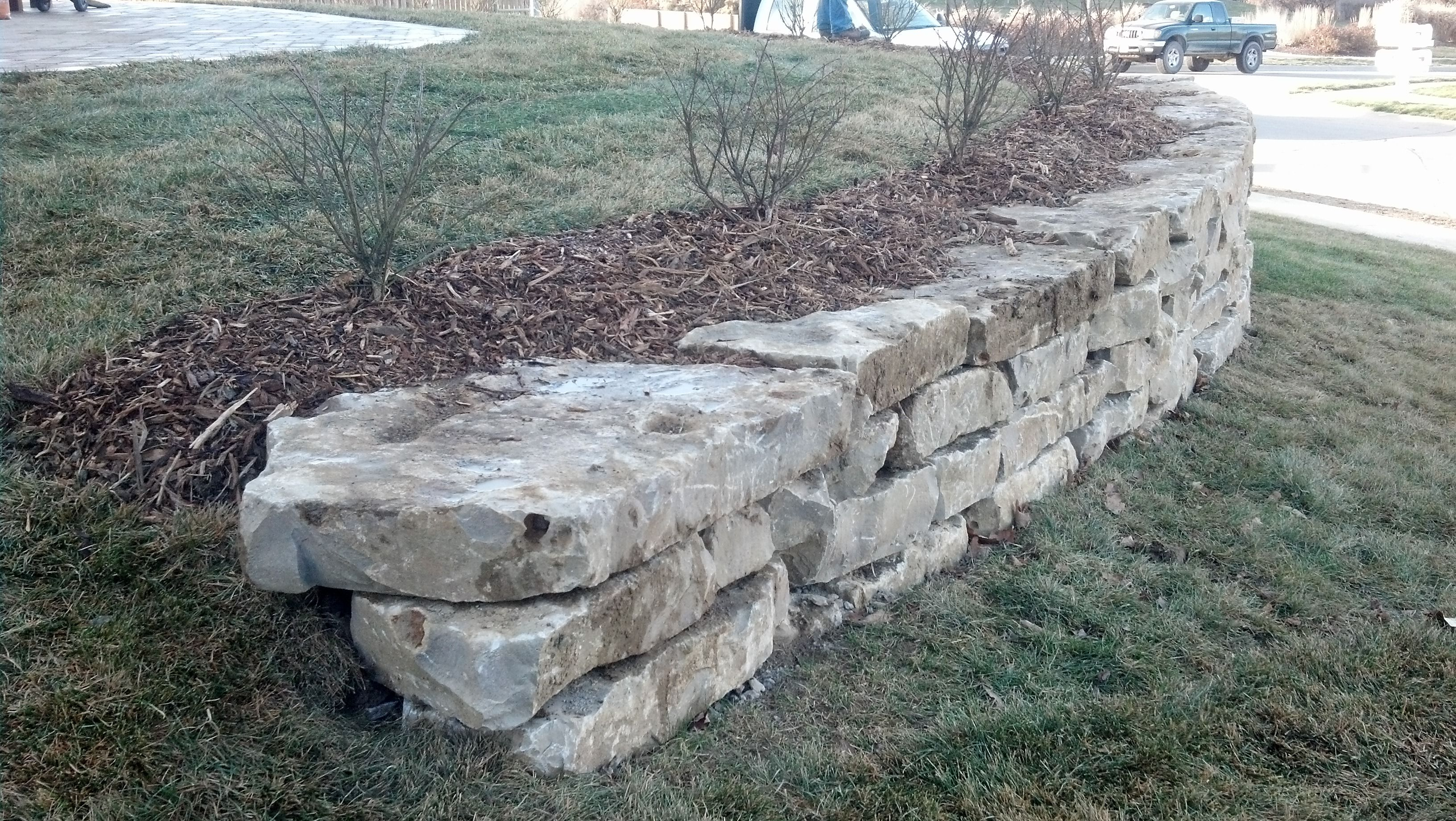 limestone retaining wall mechaley landscaping with on stone wall id=94738