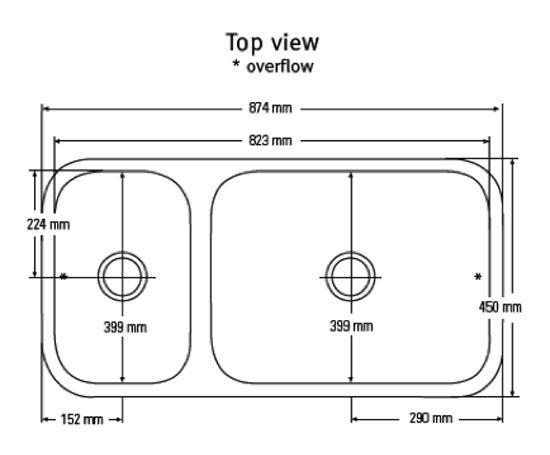 corian countertop with sink | Corian® 873 double sink | McD