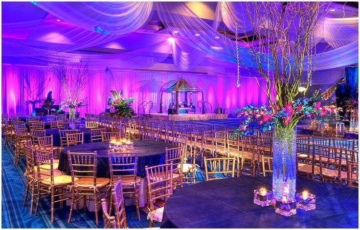 Fabulous Pink Uplighting At This Wedding Reception