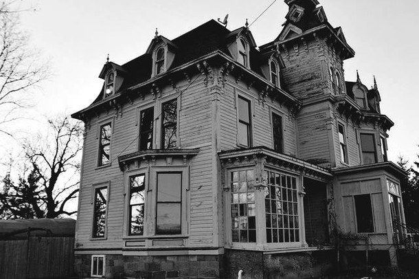abandoned, abandoned house, architecture, b&w, black and white, branch, branches, dark, dark place, goth, haunted, haunted house, house, old, old house, place, tree, trees, victorian, victorian house, goth ar, dark architecture, goth house