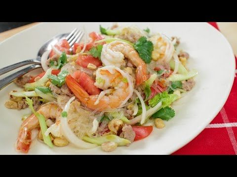 Yum Woon Sen Recipe (glass noodle salad 2.0) ยำวุ้นเส้น - Hot Thai ...