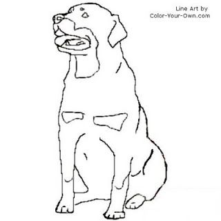 Rottweiler Coloring Page Inkspired Musings Let S All Go To The Farm