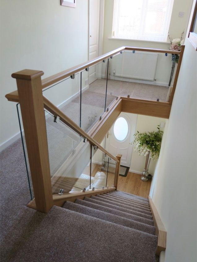 Medlock Staircases Offer A Wide Range Of Glass And Wood Staircase  Renovations, Staircase Refurbishments U0026 New Staircases. Modern Oak And  Glass Staircase ...