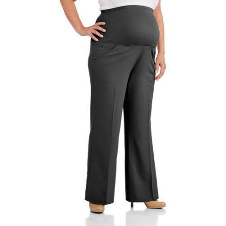 f4085dc8215ace Oh! Mamma Maternity Plus-Size Full-Panel Wide Leg Career Pants, Women's,  Size: 3XL, Black