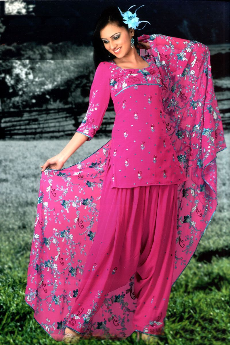 Typical Punjabi Girl Look Love It  Shalwar Kameez -6121
