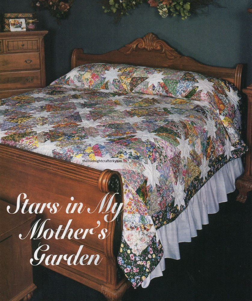 Stars In My Mother\'s Garden Quilt Pattern Pieced SG | Star, Patterns ...