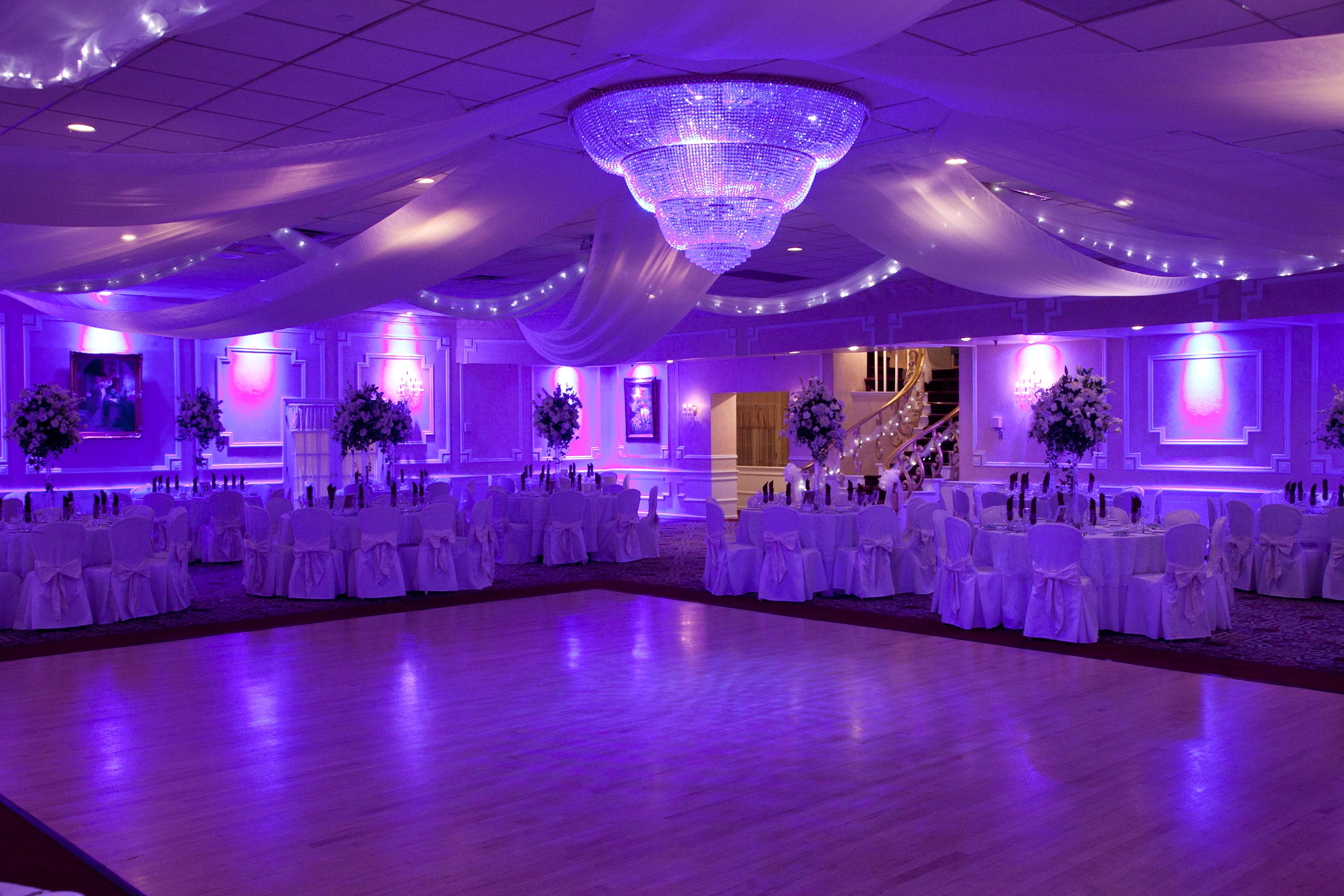 Elegant Purple Lighting For A Wedding Prom Sweet 16 Or