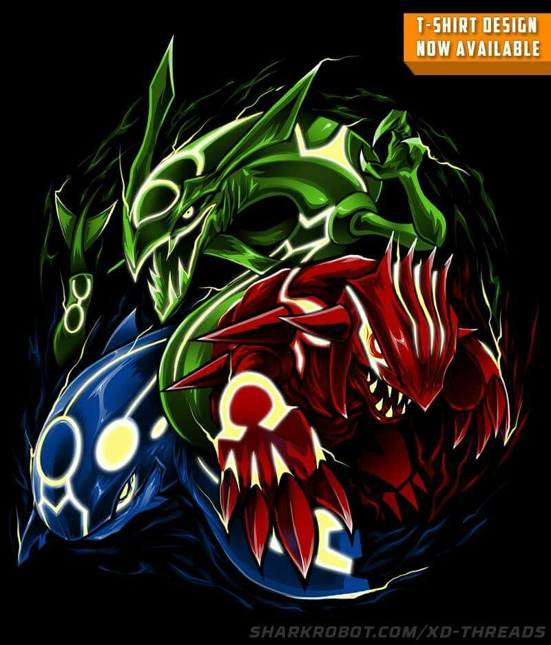 Rayquaza kyogre groudon pokemon pokemon pins pok mon character design references - Pictures of groudon and kyogre ...