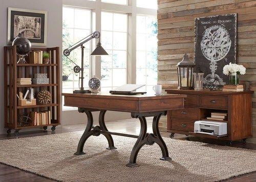 Arlington House Writing Desk Cobblestone Brown Liberty