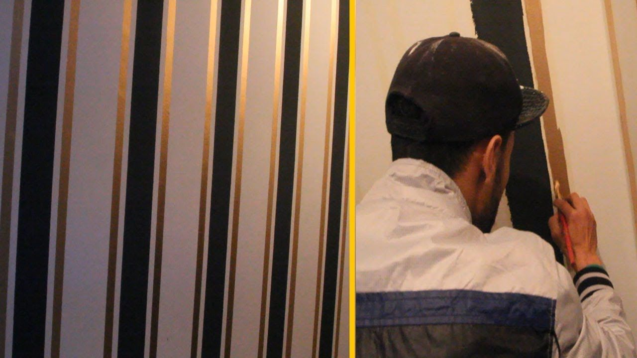 طريقة صبغ الجدران بخطوط طوليه بشكل انيق وسهل Decor Home Decor
