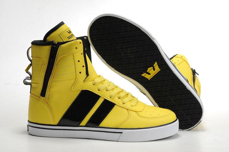 2011 New Supra Skytop Yellow/Black Men's