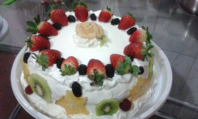 Bolo de frutas diet