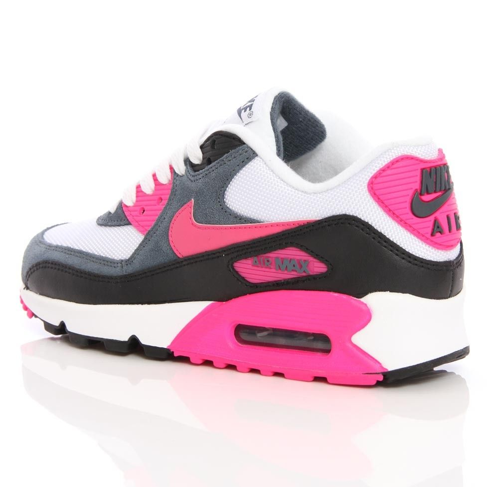 brand new 438b6 1083e ... dark armory black sneakersnike 639a9 6f388  usa nike wmns air max 90  essential white pink foil black 616730 100 0556d 6bd67