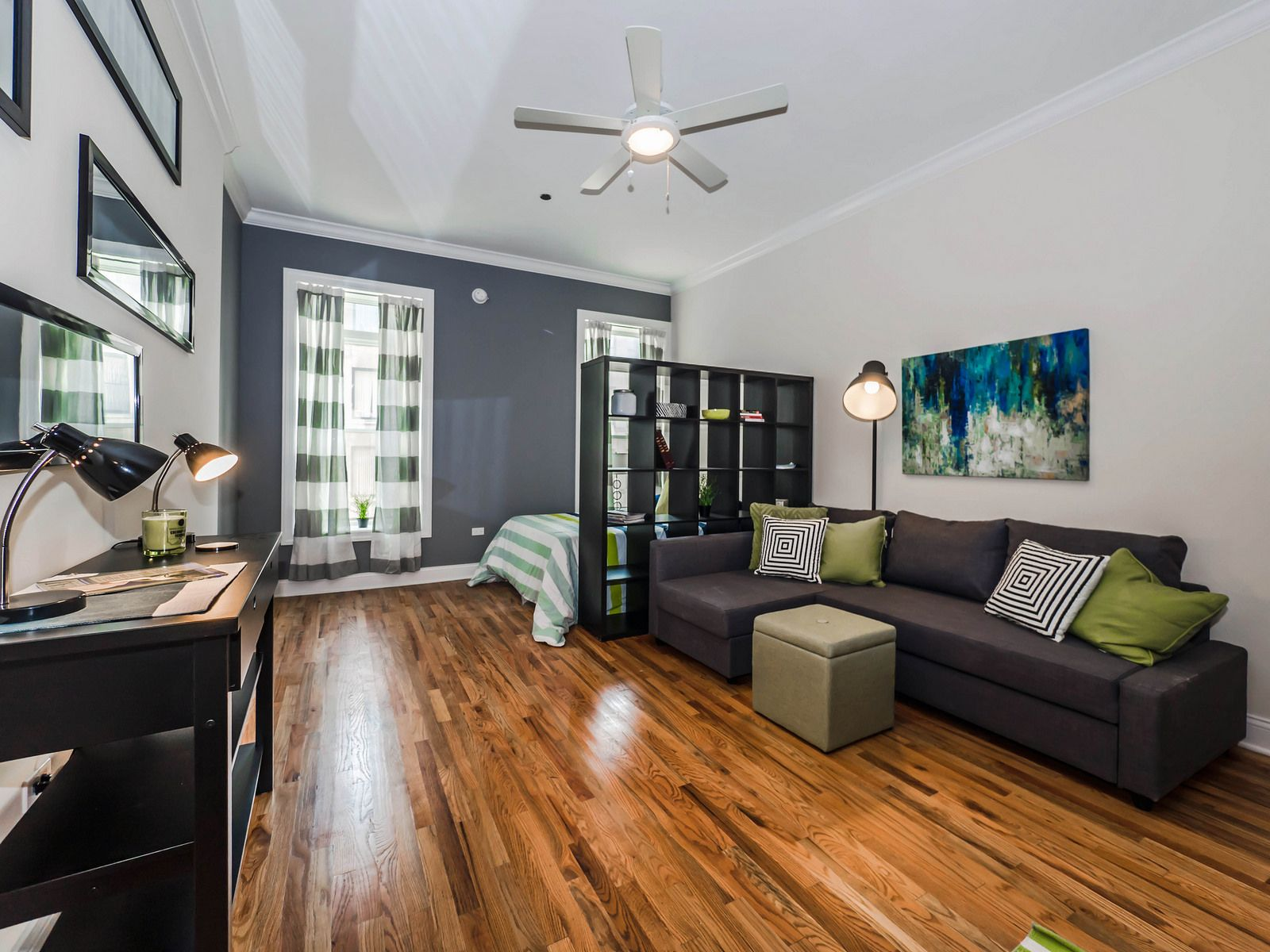 This spacious studio apartment is is in the popular