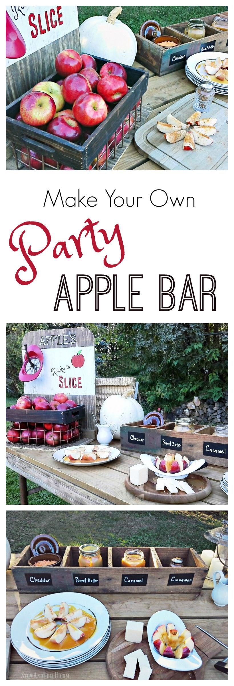 Homemade Party Apple Bar