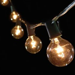 Solar String Lights Lowes Impressive Globe String Lights 2 Inch E17 Bulbs 50 Ft Green Wire C9 Strand Design Ideas