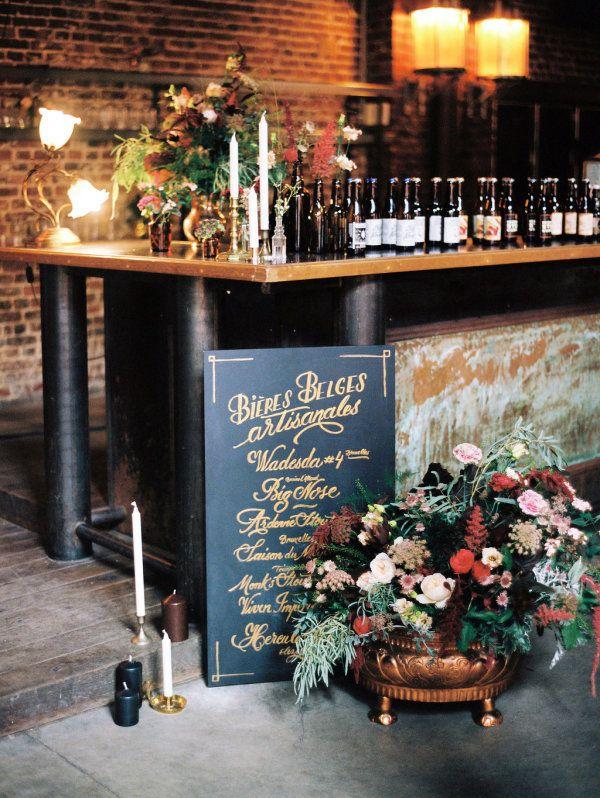Chic Belgium Brewery Wedding Inspiration Style Me Pretty