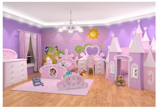 Dormitorios princesas kids room pinterest dormitorio for Cuartos para ninas frozen