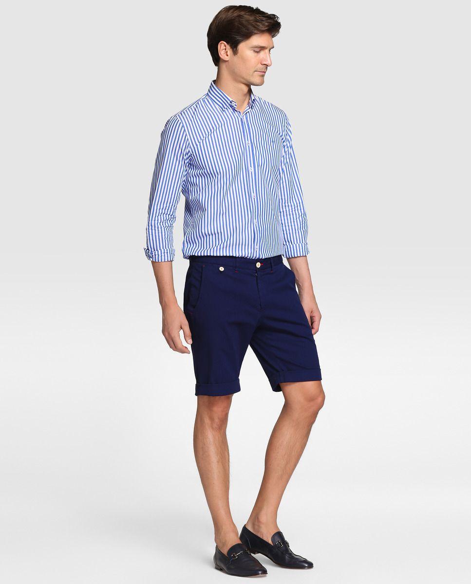 Camisa de hombre Roberto Verino regular de rayas azul · Roberto Verino ·  Moda · El 0927197b095