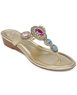 84a2a693e71 Vince Camuto Ilina Wedge Thong Sandals.  Available in 2 colors  New Gold    Silver .