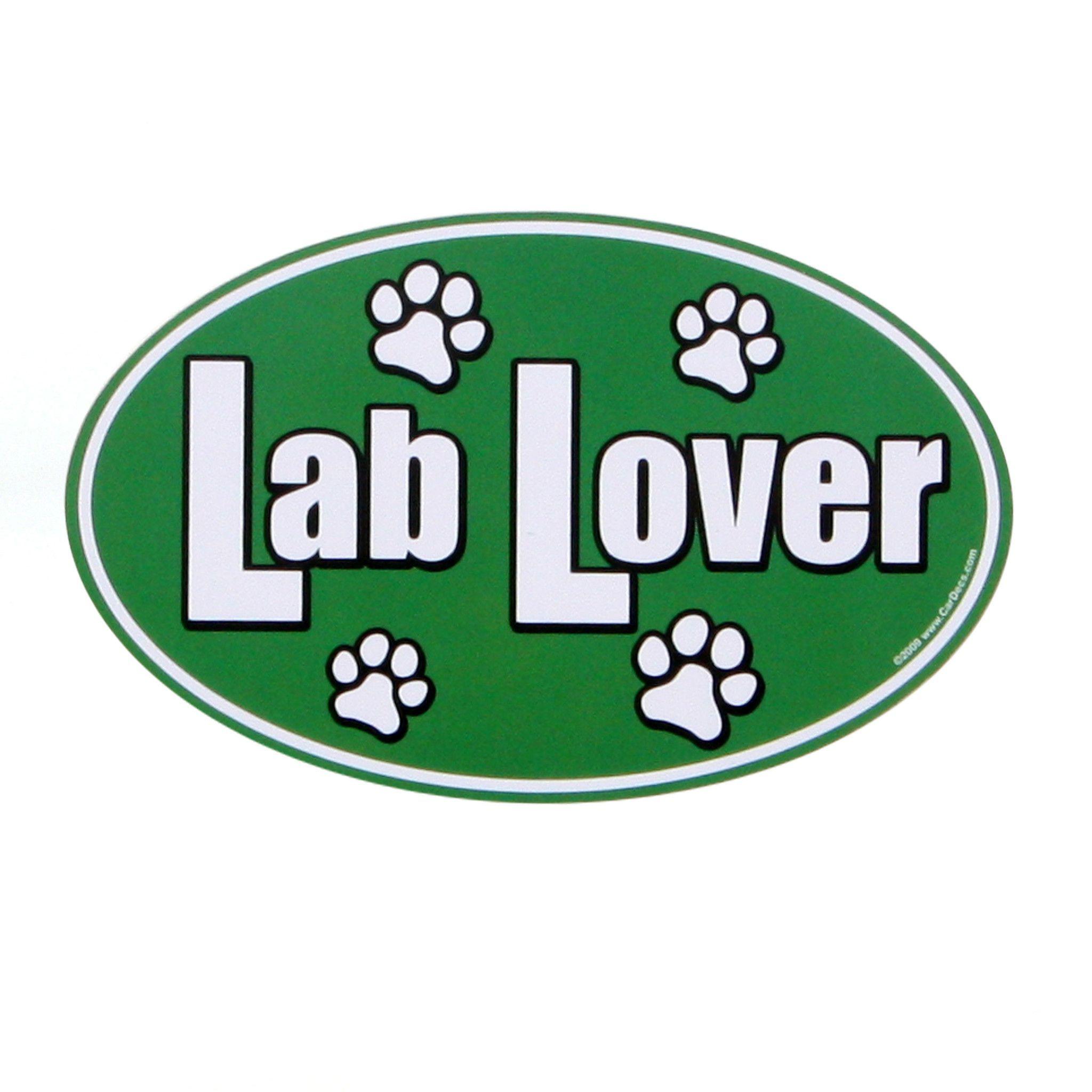 Lab Lover Car Magnet