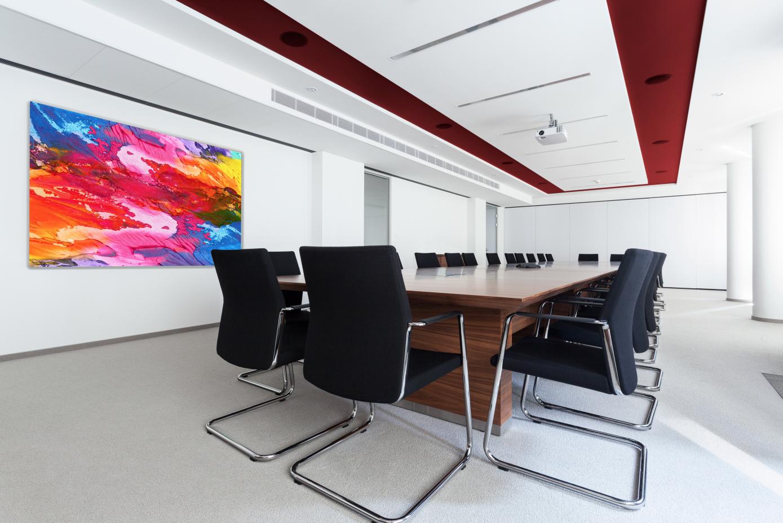 GlassPrint ideal para la sala de juntas y/o espacios de oficina