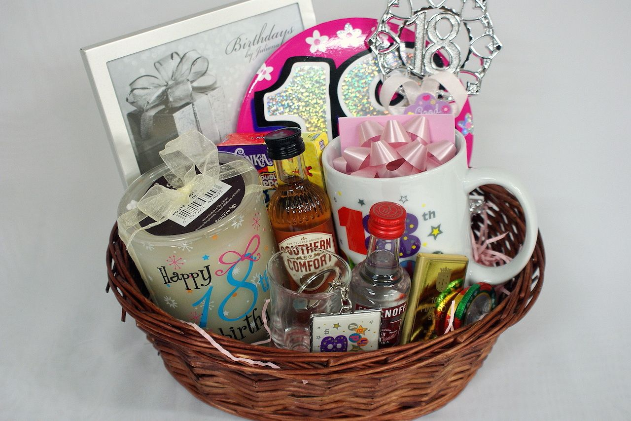 Personalised 18th Gift Basket For Girls