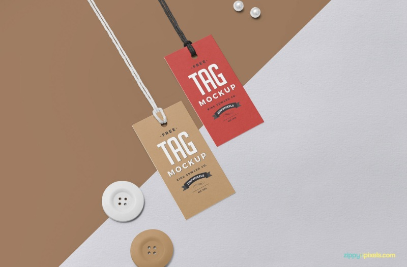 Download 30 Clothing Label Mockup Templates For Apparel Tag Designs Texty Cafe Swing Tags Tag Design Clothing Mockup