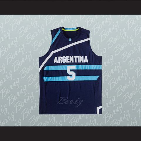 3088d2cdae Manu Ginobili 5 Argentina Basketball Jersey Any Player or Number Stitch Sewn