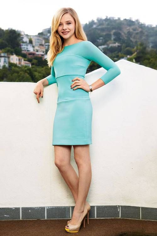 Chloe tumblr pic, Chloe Moretz tumblr pic in a teal outfit