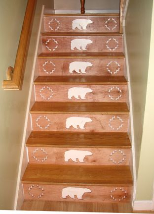 wonderful wood stair risers | One Step Beyond: Decorative Stair Risers - design stairs ...