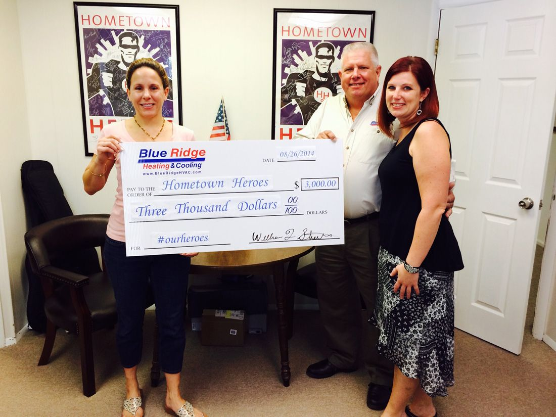 We Re Very Grateful For This Donation From Blue Ridge Heating Cooling Bill Stueber And His Daughter Jennifer Came
