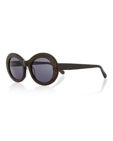 PRISM San Francisco Transparent Oval Sunglasses, Tiger. #prism #