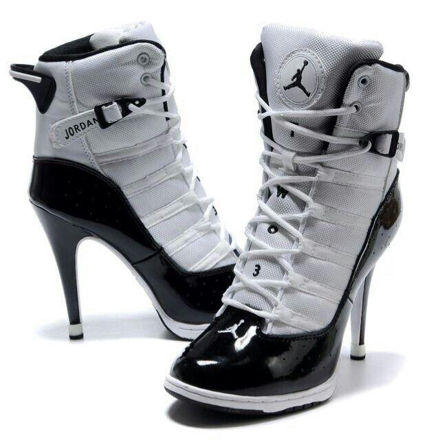 los angeles 8d60b 2cadd Heels Jordan  High Heels  Boots, Flats and Tennis Shoes ...