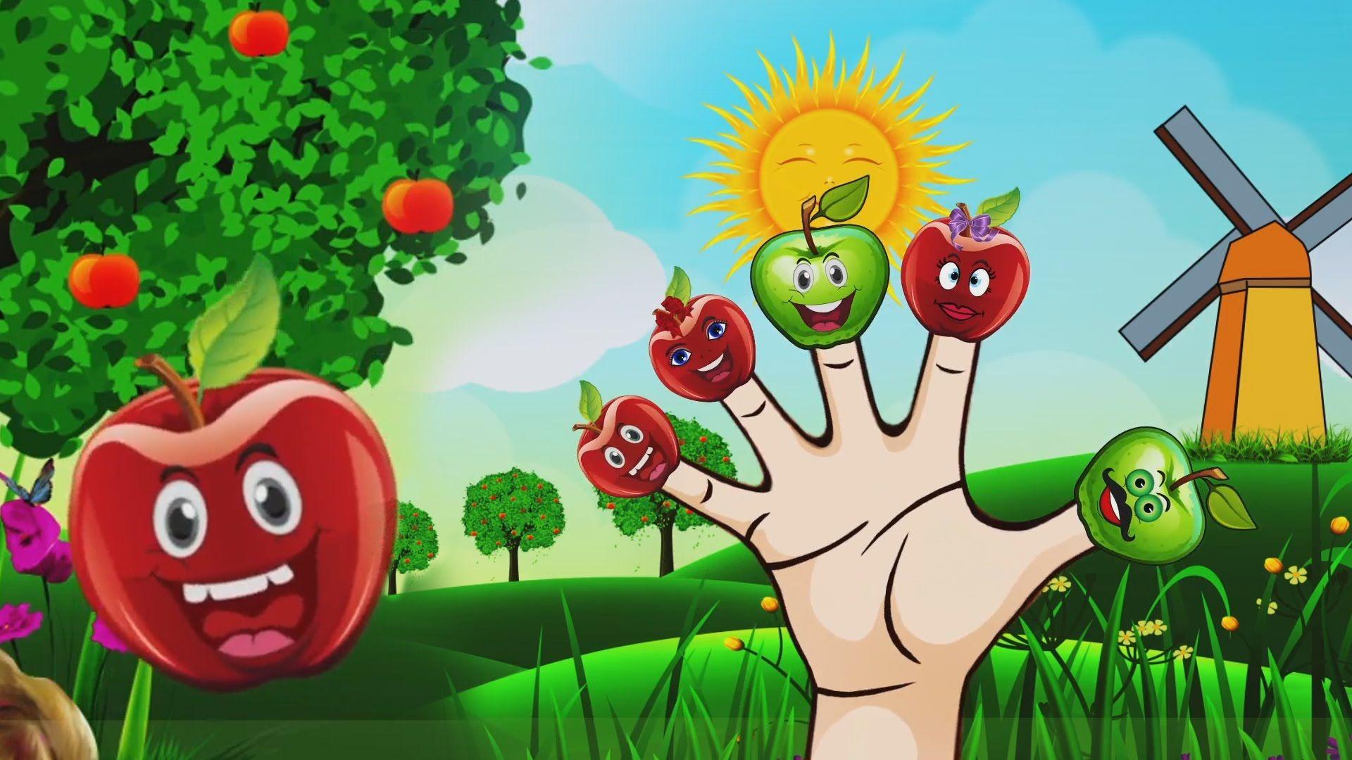 Watch Apple Finger Family Nursery Rhyme Meow Meow TV