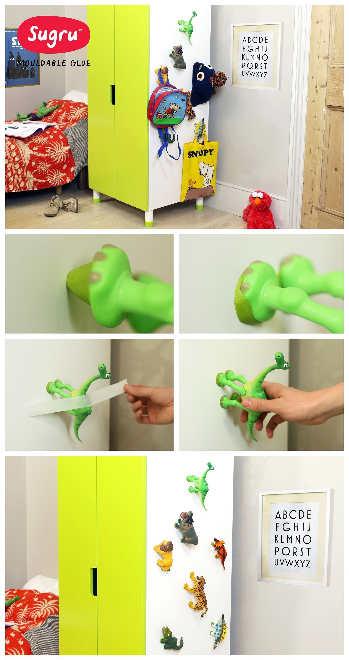 Transform old toys into fun hooks with Sugru … …