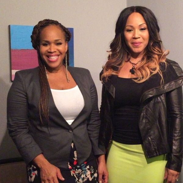 Singers Erica Campbell and Tina Campbell of gospel group