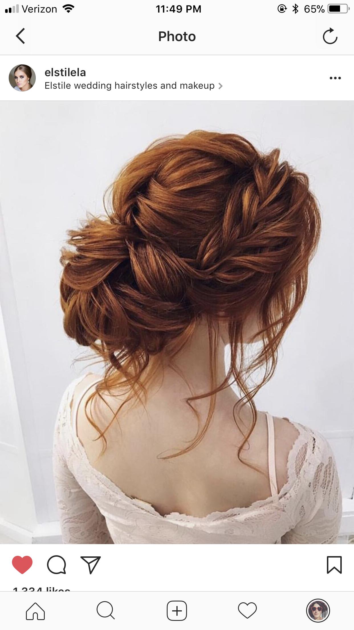 Low Updo Braid Ginger Hair Styles Braided Prom Hair Long Hair Styles