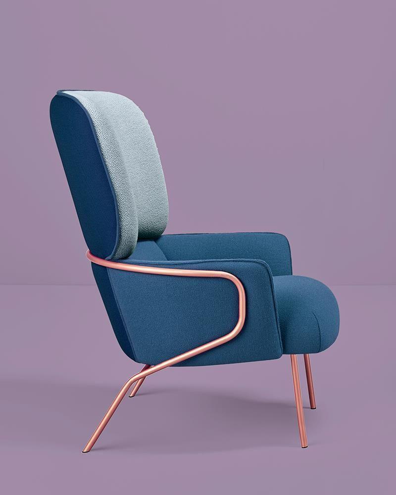 cotton armchair by eli gutierrez studio missana metalchair