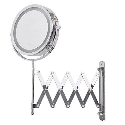 Adjustable And Extendable Round Chrome Battery Operated Magnifying New Extendable Bathroom Mirror Decorating Inspiration